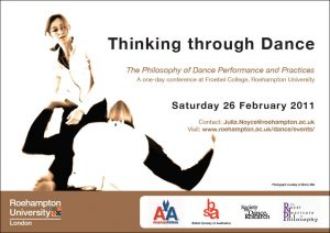 Thinking through Dance conference flier, 2011